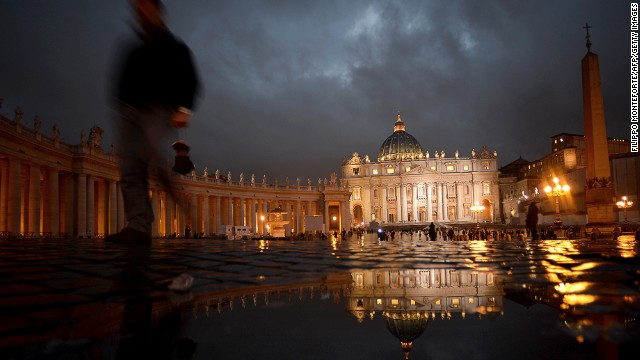 St. Peter's Basilica in Vatican City is built on Vatican Hill, across the Tiber river from the historic center of Rome. It's the principal shrine of the Catholic Church.