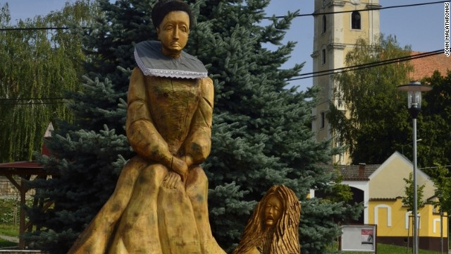 Statue of Elizabeth in Slovakia