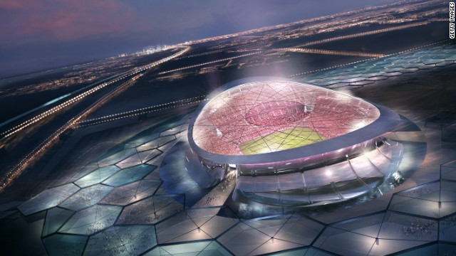The stadium will be surrounded by a moat and contain advanced, open-air cooling systems to combat the blistering Qatar summer heat.