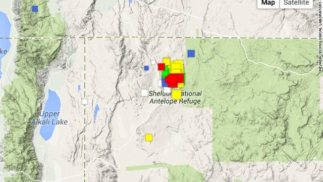 Hundreds of earthquakes have hit northwestern Nevada this year.