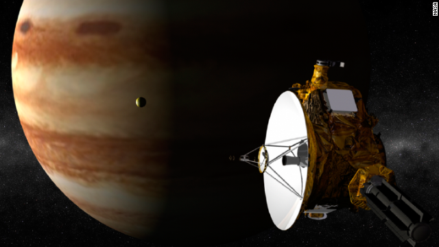 No probe has ever gone to Pluto, but New Horizons aims to change that. The craft, launched in 2006, is set to arrive at the solar system's tiny former planet in June 2015. The image here depicts New Horizons sailing past Jupiter.