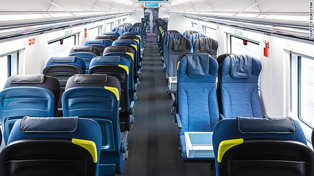 Italian design studio Pininfarina designed the trains, which have been outfitted with roomier interiors and 20% capacity. There are also more wheelchair accessible seats in the new trains.