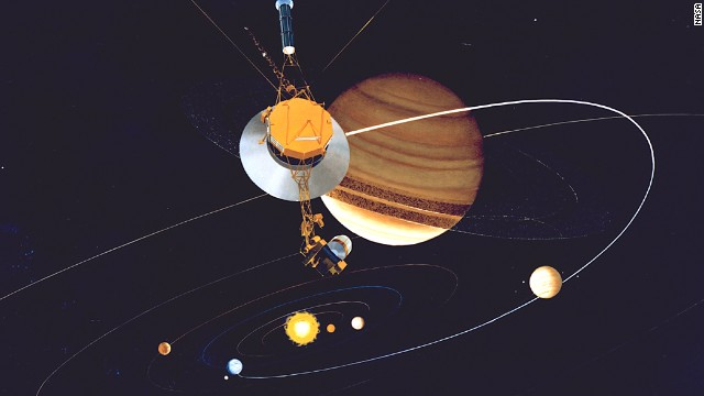 Of all the NASA missions, none has visited as many planets, rings and moons as the twin Voyager 1 and Voyager 2 spacecraft, which were launched in 1977. Voyager 1, now more than twice as distant as Pluto, is farther from Earth than any other object made by humans.