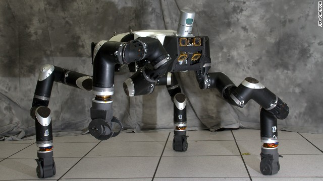 The RoboSimian disaster-response robot has four limbs, seven cameras and a LiDAR system.