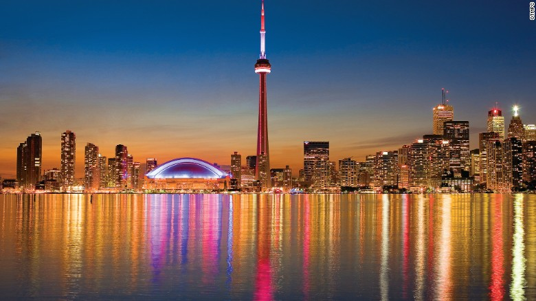 With perhaps Canada's top skyline -- including the 553-meter-high CN Tower -- Toronto ranked fourth in the survey.