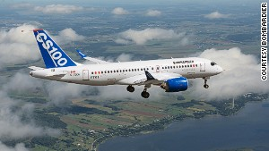 """Bombardier calls its CSeries """"the first all-new single-aisle plane in 30 years."""""""
