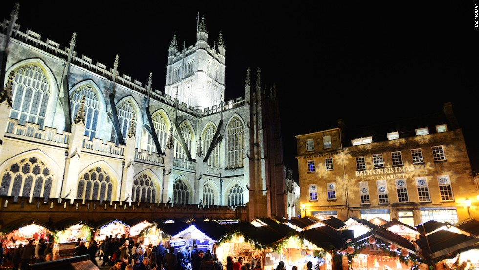 A seasonal favorite, the 18-day Bath Christmas Market has more than 170 wooden chalets selling distinctively British handmade crafts in a quaint Georgian setting.