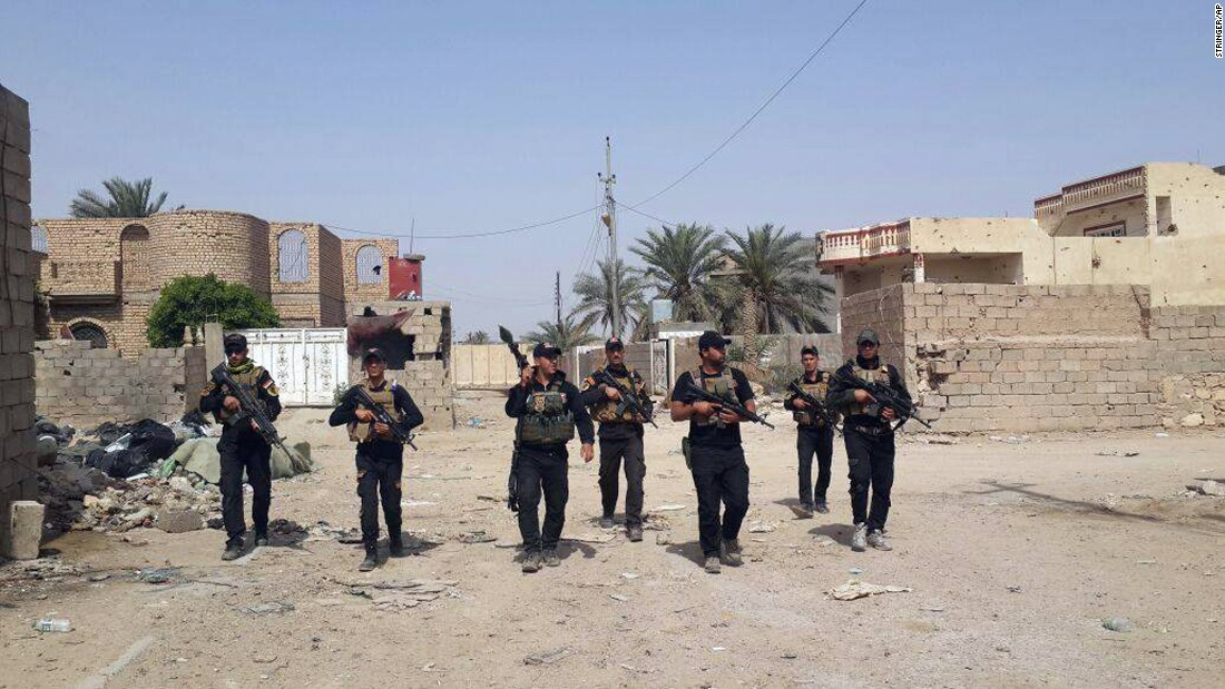 Iraqi counterterrorism army unit in Ramadi on Apr 18.