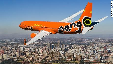 Mango's fleet is decorated with a distinctive orange livery.