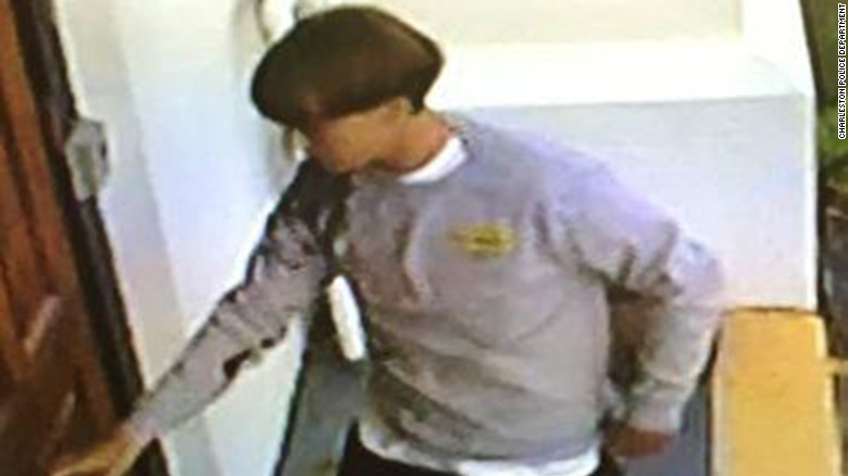 A man in his early 20s is seen in this security camera image distributed by the Charleston Police Department. He is suspected of killing nine people after he entered the Emanuel African Methodist Episcopal Church in Charleston, South Carolina, on Wednesday, June 17, and began shooting. The suspect is still at large.