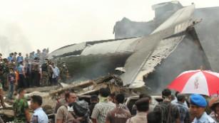 Cargo plane crashes in Indonesia