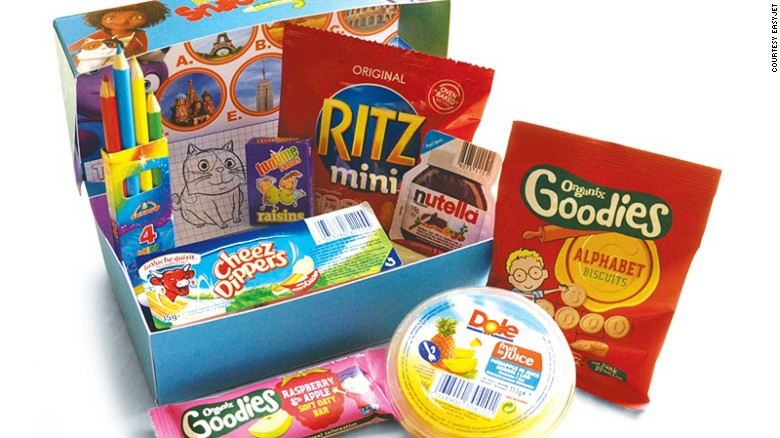 EasyJet recently re-designed its kids' inflight snack box. By removing chips and chocolate bars, the airline achieved a 4% reduction in fat, 40% reduction in saturated fat and an increase of 20% in fiber.