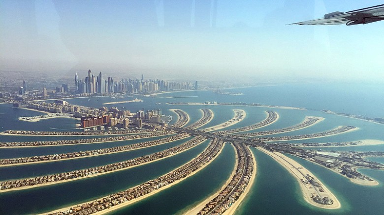 Dubai's skyline seemingly changes by the week and the scale of some massive developments on reclaimed land can only truly be appreciated with a bird's eye view. Private charters cost about $3,000.