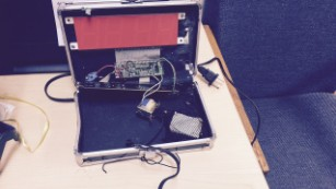 A photo police provided showing the clock Ahmed made