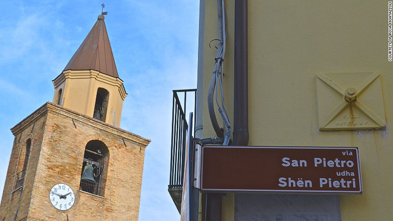 """The towns of Portocannone, Montecilfone, Ururi and Campomarino are known as """"Little Albania."""" Road signs are in both Italian and the local dialect, a version of Albanian called Arberesh."""