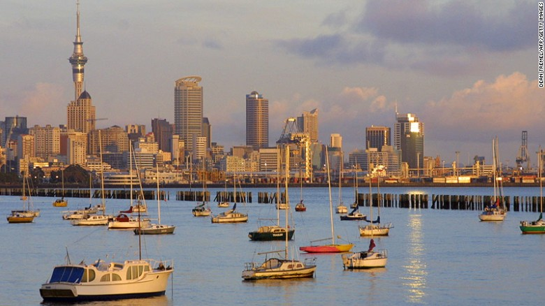 Frequently listed as one of the world's best cities, New Zealand's Auckland ranks 8th with a score of 95.7.