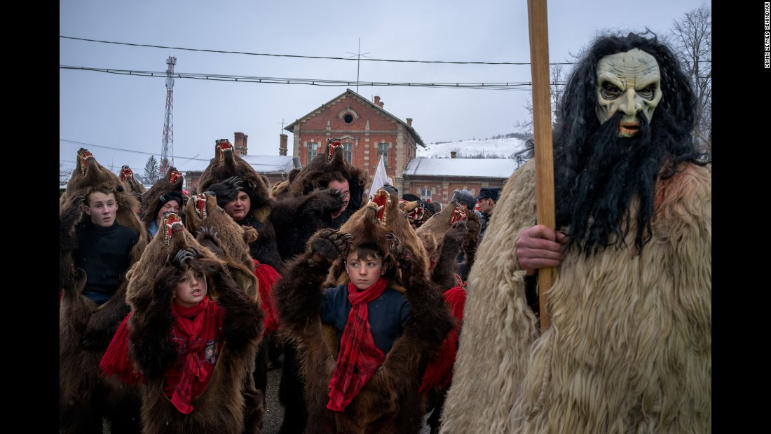 Alhindawi, who is half-Romanian, lived in Moinesti until she was eight and recalls the bear dancing fondly. She says despite appearances, it's a joyous time of celebration -- but one that's dying out as hard times force young people to leave the area.