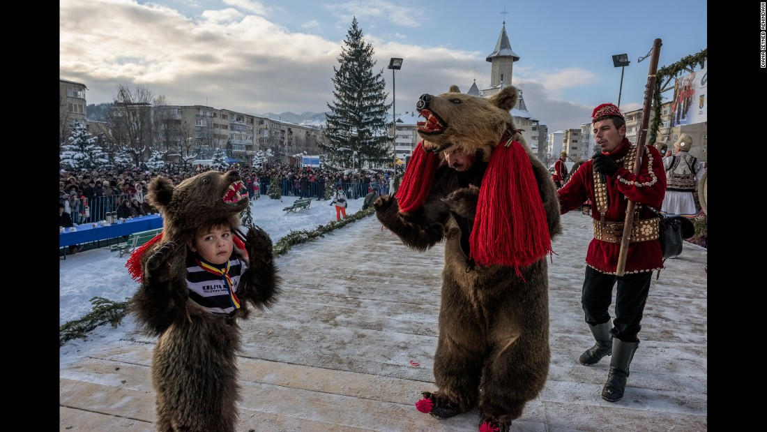 """Older bears would be made to """"dance"""" on hot metal plates. At some time in the last century, use of live bears was replaced by people wearing bearskins."""