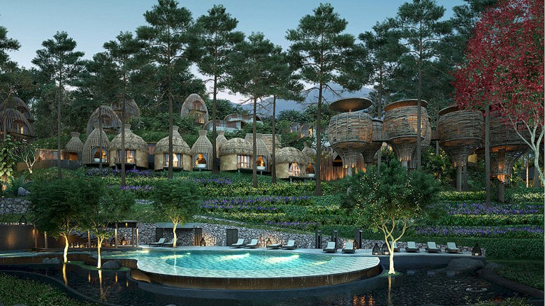 Already complete, Thailand's Keemala Resort is due to open before the end of the year. A tropical wonderland of thatched huts, treehouse pools and terraced herb gardens, this adults-only wellness resorts is tucked into a rainforest along the Andaman Sea.