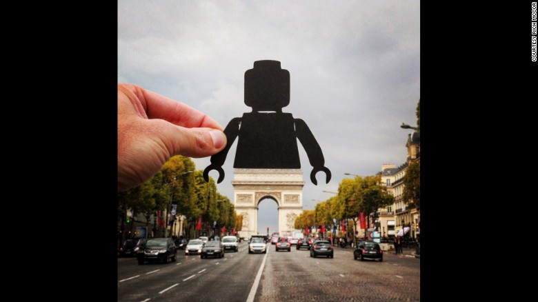 Rich McCor's clever takes on familiar world monuments have earned worldwide attention. Photos like this one of the Arc de Triomphe in Paris made him an overnight Instagram sensation.