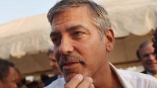 George Clooney in South Sudan in 2011.