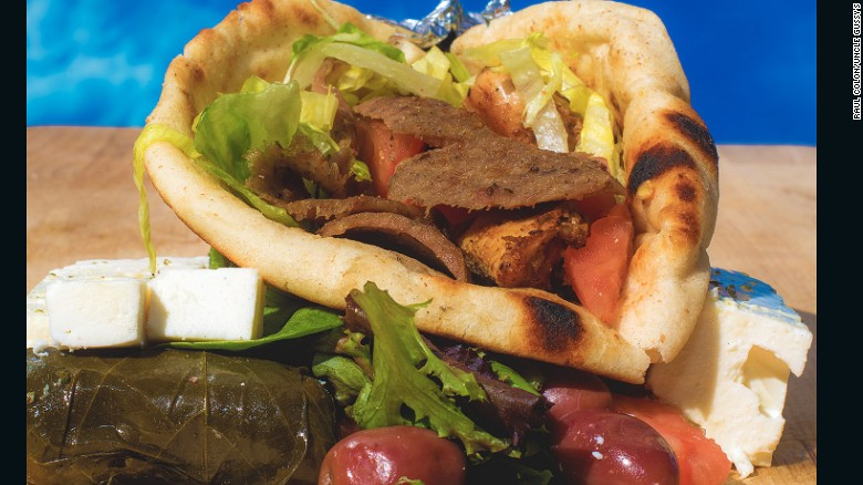 For a cheap street eat, the freshly carved lamb gyro is the top pick at Uncle Gussy's, an insanely popular food truck run by two brothers. Mom makes the tzatziki sauce.
