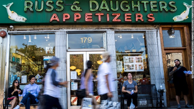 There are endless places to grab a fast bagel or other breakfast item, but Russ & Daughters is one we keep going back to.