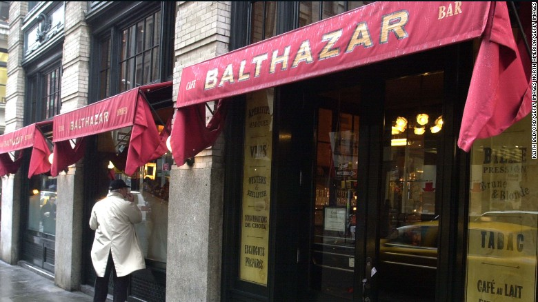 "At Balthazar, ""eggs any style"" includes ""en cocotte"" (baked in a ramekin with cream), in puff pastry (scrambled with wild mushrooms and asparagus) or Norwegian (poached with smoked salmon), with the occasional side of celebrity-sighting."