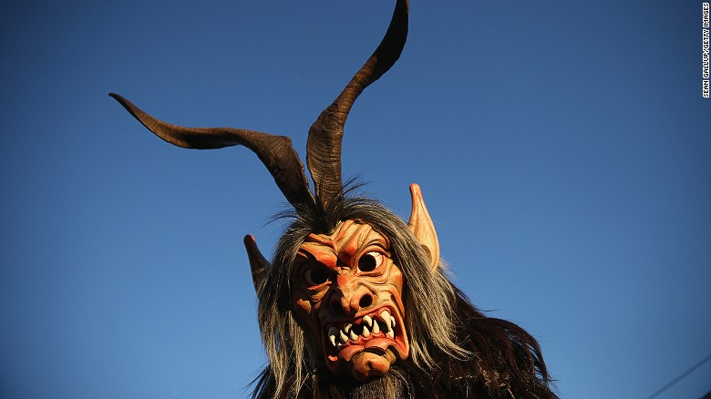 """Across Austria and Bavaria, in December people dress up as terrifying Alpine beasts known as krampuses and rampage through the streets in search of naughty children in need of punishment. The last <a  data-cke-saved-href=""""http://www.salzburg.info/en/art_culture/advent_new_years_eve/krampus_percht"""" href=""""http://www.salzburg.info/en/art_culture/advent_new_years_eve/krampus_percht"""" target=""""_blank"""">Krampus Run</a> in Salzburg this year is on the winter solstice, December 21."""