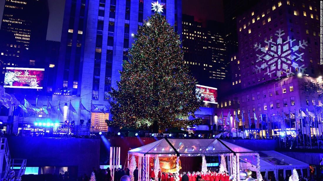 The 83rd version of the famed Rockefeller Center Tree was lit up on December 2.