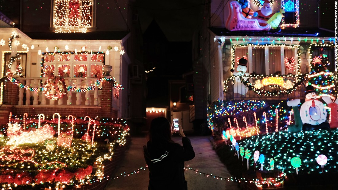The Dyker Heights neighborhood of Brooklyn is one of the most ethnically diverse areas in the United States. Christmas lights in the area have become a popular annual attraction, with hundreds of cars and pedestrians arriving daily to view the homes.