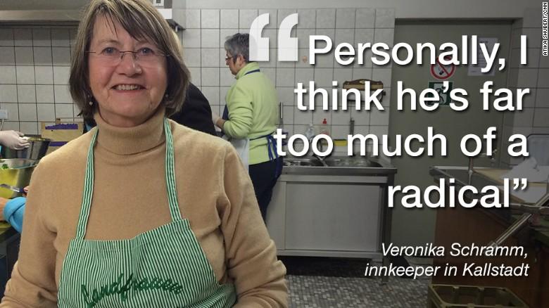 Kallstadt innkeeper Veronika Schramm doesn't think Donald Trump would fit in in Kallstadt