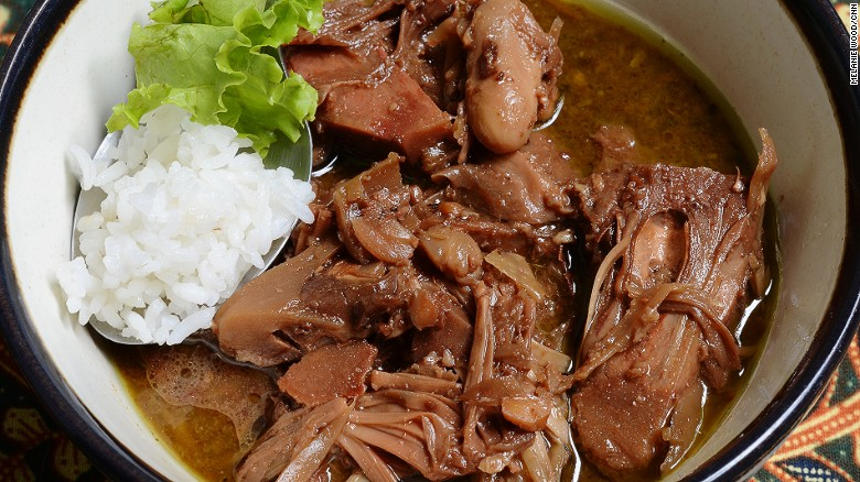 Boiled for hours in coconut milk and palm sugar, gudeg might be the greatest fruit stew (with sweet jackfruit) in the world.