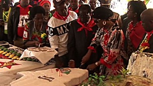 Zimbabwe's President celebrates as people suffer