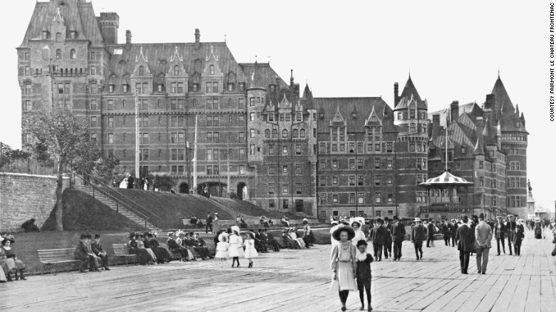 Le Château Frontenac in Québec City, seen here in 1912, was built by the Canadian Pacific Railway.