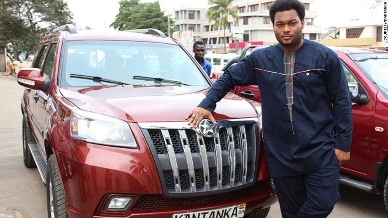 30-year old Kwadwo Safo Jr. is CEO of the family's car business.