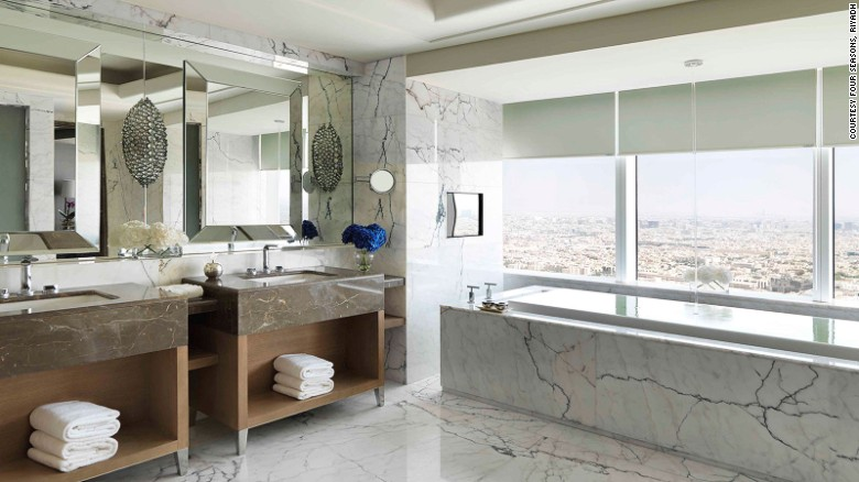 Majestic marble: The Kingdom Suite.