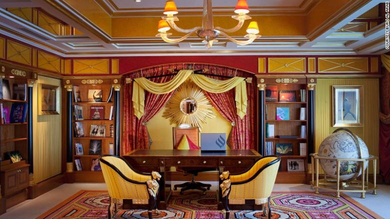 Rococo rendezvous: The Burj Al Arab's Royal Suite.