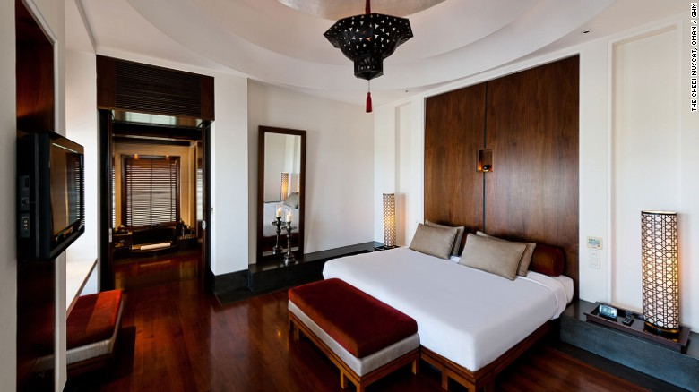 High ceilings, high class -- The Chedi Muscat's Chedi Club Suite.