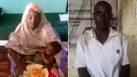 Amina Ali was found with a suspected Boko Haram terrorist named Mohammed Hayatu.