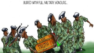 Cartoonist Patrick Gathara believes the truth about El Adde is being hidden from the Kenyan public.