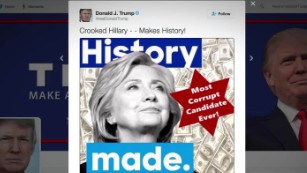 trump star tweet clinton backlash _00001715