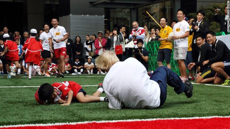 London Mayor Boris Johnson in Japan.