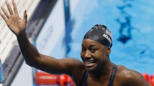 Simone Manuel breaks the ultimate color barrier -- the pool