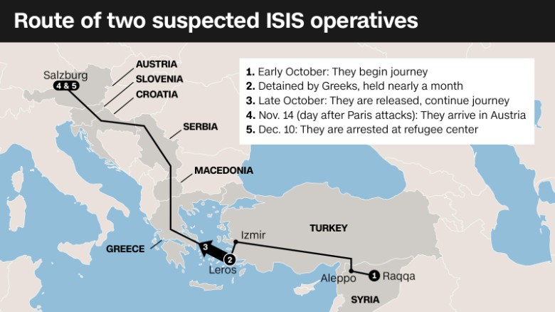 Suspected ISIS operative map graphic