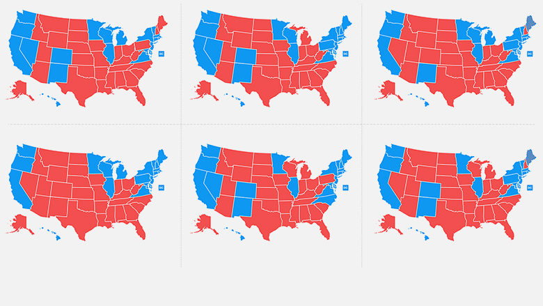 six ways trump could win map thumbnail