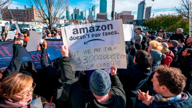 Amazon cancels plans for New York headquarters