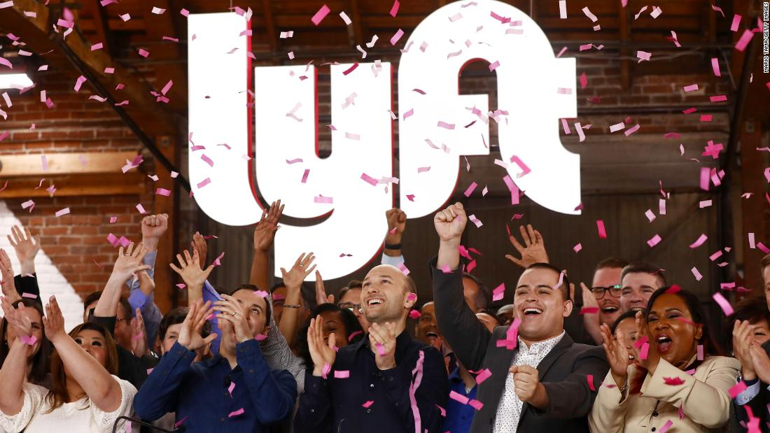 Lyft debuts on the Nasdaq for $87 a share
