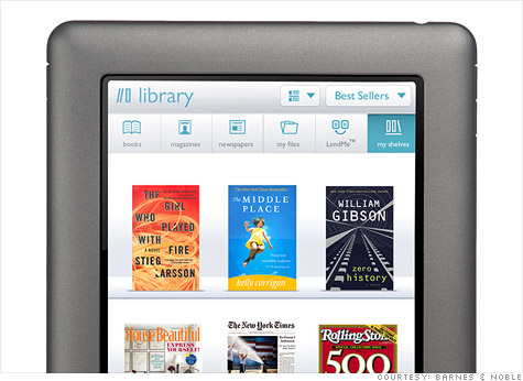 Barnes & Noble Nook now has color touchscreen - Oct. 26, 2010