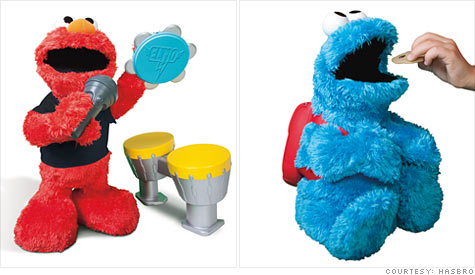 New Elmo and other Sesame Street toys unveiled by Hasbro.